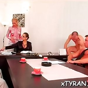 Real stunner gets ass spanked and cunt licked by dominatrix