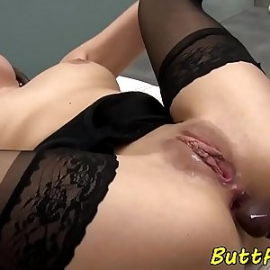 Eurobabe analfucked hard by black dick