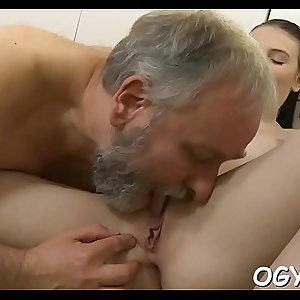 Young cunt filled by old pecker