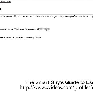 She Has A Pimp! - The Smart Guys Guide to Escorts Part 4
