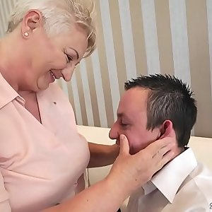 Chubby mom licking her lovers asshole