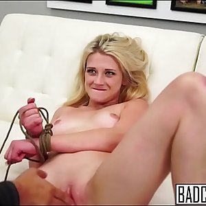 Blonde Teen Enjoys This Casting
