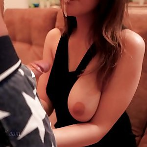 Youthfull Huge Tits Sloppy Handjob and Facial