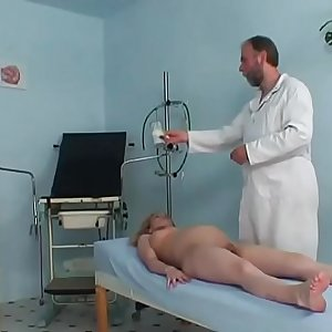 Pregnant cute woman riding her gynaecologists hard prick