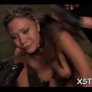 Thick strapon for harlots gaping cum-hole