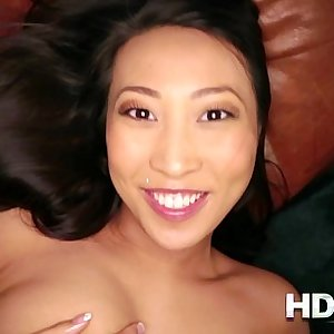HD POV French Asian chick with Big Tits loves to Fuck