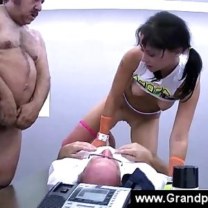 Teen gets ripped apart by two old men