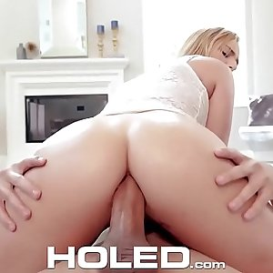 HOLED Big booty blonde Kate England fits thick dick in her tight ass