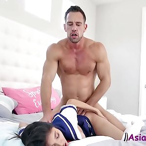 Asian Schoolgirl gets her cunt fucked by an OLD HUNK- Brenna Sparks