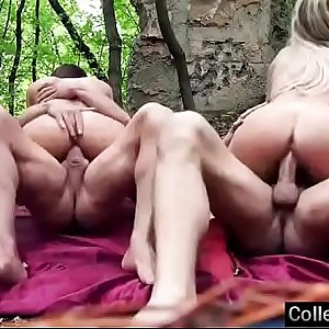 Sex Tape In Group Activity With Hot Teenager College Girls (cindy & summer) video-18