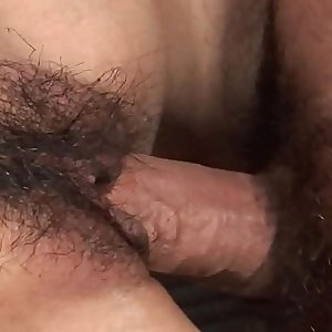 Her hairy cunt getting pumped with a hard dick