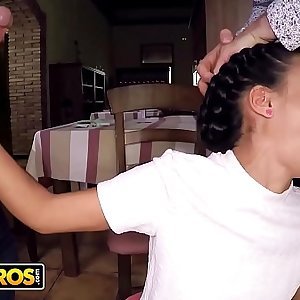 BANGBROS - Hot Youthful Waitress Apolonia Working Hard For The Money