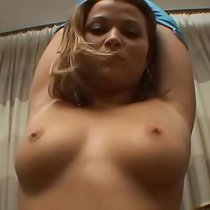 It is her firs time on camera masturbating
