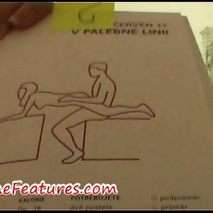 Real couple has fun with Kamasutra book