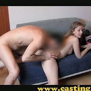 Casting - Teenage gets her first creampie
