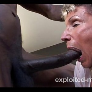 Old Granny can barely take a Big black cock in this Extreme Interracial Mature Movie