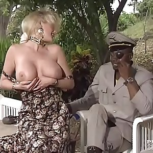 Busty Sally Gets a Big Black Cock