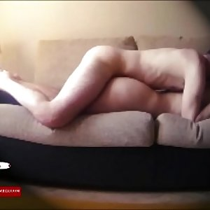 Fucking on the couch with his boy and the heels on ADR0045