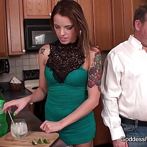 Footjob - Babysitter wants Mr. Smith to herself