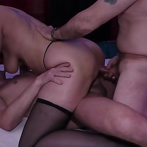 german mummy double anal invasion party gangbanged
