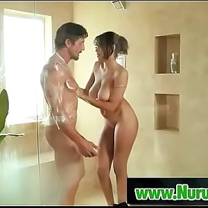 Japanesse masseuse gives pleasure in nuru massage 16