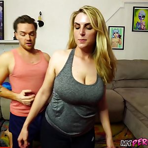 Buxomy Mom Gets Opened up Out by Big Dick Son