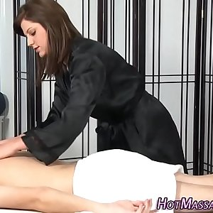 Tat masseuse sucking dick