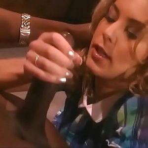 Young blonde with ultra-kinky natural tits gets deep black intrusion