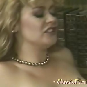 Blonde bombshell in a lusty vintage pornography