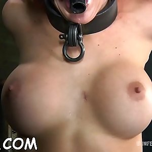 Bounded beauty is dripping wet from her sexy castigation